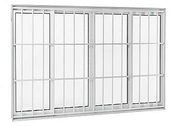 Grade para porta de aluminio