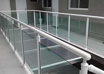 Guarda corpo de escada de alumínio