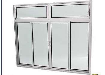 Grade de aluminio branco para janela