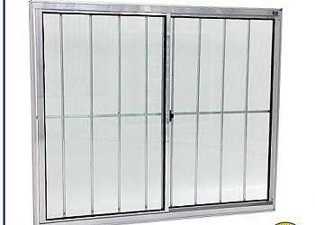 Grade alumínio janela
